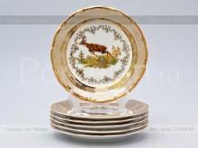 "Набор тарелок 17 см. ""Охота Бежевая"" МЛ Carlsbad"