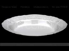 """Блюдо овальное 24 см """"Деколь. отводка платина"""" Bernadotte"""