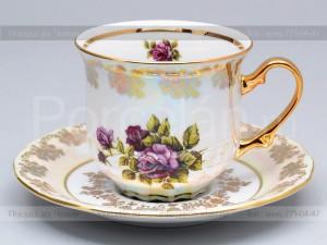 """Набор чайных пар 155 мл. 6 шт. """"Роза"""" 586/R Epiag"""