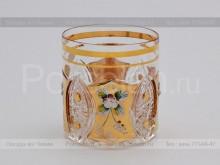 Набор стаканов 330 мл. хрусталь с золотом Jahami Bohemia