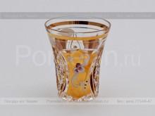 Набор стопок для водки 045 мл. хрусталь с золотом Jahami Bohemia