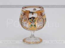 Набор бокалов для бренди 170 мл. хрусталь с золотом Jahami Bohemia