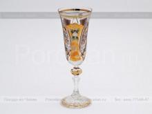Набор фужеров для шампанского 150 мл. хрусталь с золотом Jahami Bohemia