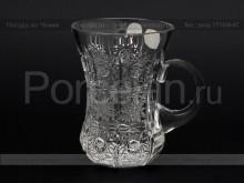 Набор стаканов Армуд с ручкой 200 мл. хрусталь снежинка Glasspo