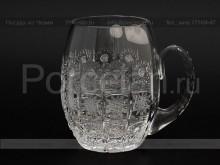 Пивная кружка 300 мл. хрусталь снежинка Glasspo